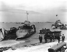 6x4 Gloss Photo ww74E Normandy D-Day Jb Juno Beach LCT 24 84