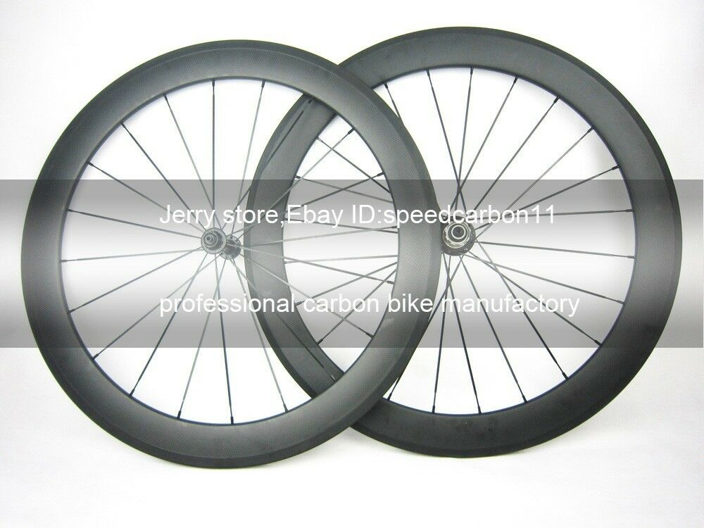 Carbon  wheel ceramic bearing hub 60mm tubular 700C carbon cycle wheel 23mm width  free and fast delivery available