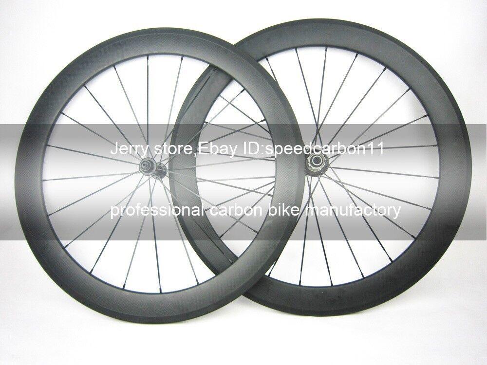 Carbon  wheel ceramic bearing hub 60mm tubular 700C carbon cycle wheel 23mm width  100% brand new with original quality