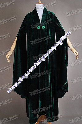 Harry Potter Cosplay Minerva McGonagall Costume Cloak Trench Coat Cape Robe