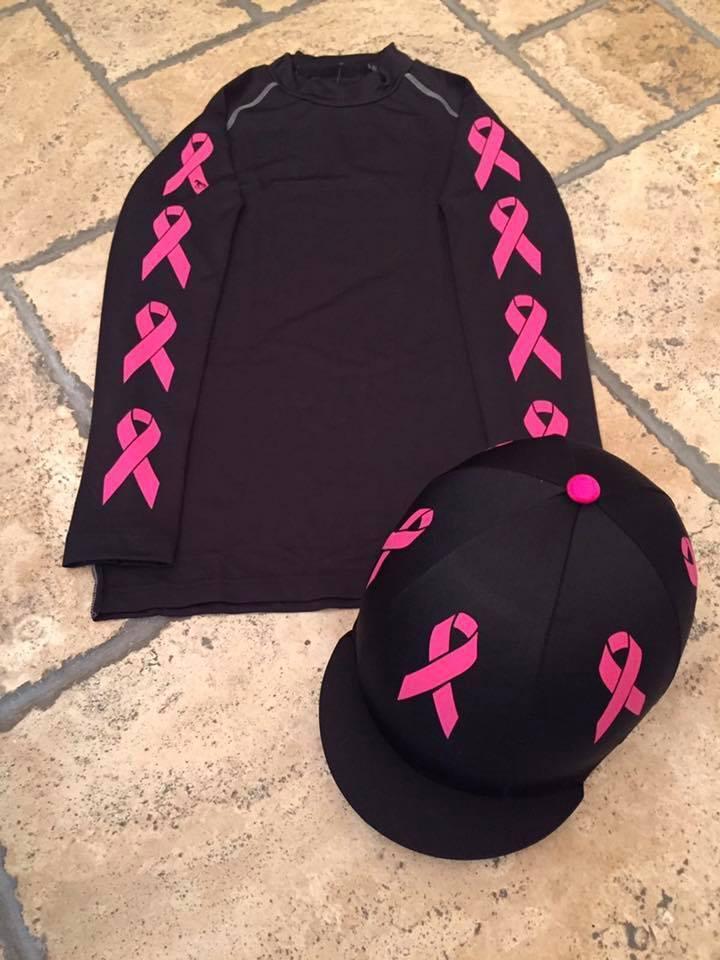 SXC Eco Cross Country couleur XC Breast Cancer concours équestre couverture en soie Chapeau