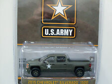 "2015 Chevrolet Silverado 1500 ""US Army"", army green, Greenlight 1:64"