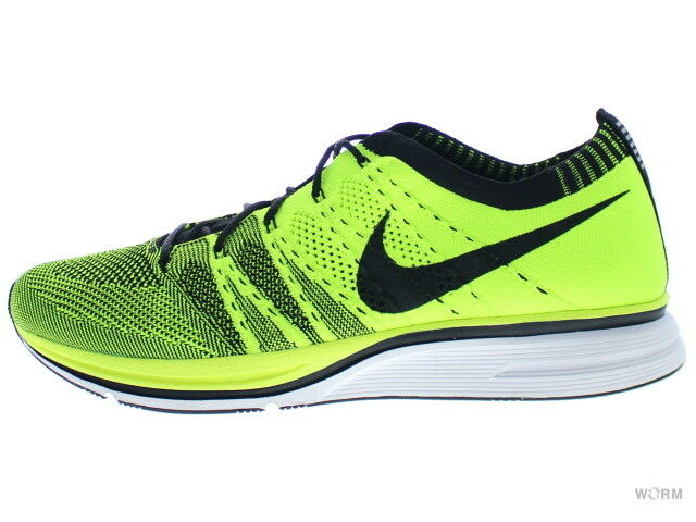 Nike Flyknit Trainer + 532984-700 Volt Noir Taille 11