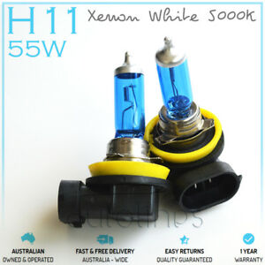 H11-12V-55W-Xenon-White-5000k-Halogen-Car-Head-Light-Lamp-Globes-Bulbs-LED-HID