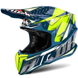 AIROH-casco-de-hierro-Twist-libertad-Motocross-Enduro-MX-Azul-M-57-58cm