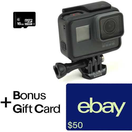 GoPro Hero6 Black + $50 GC & 16GB MicroSD Card