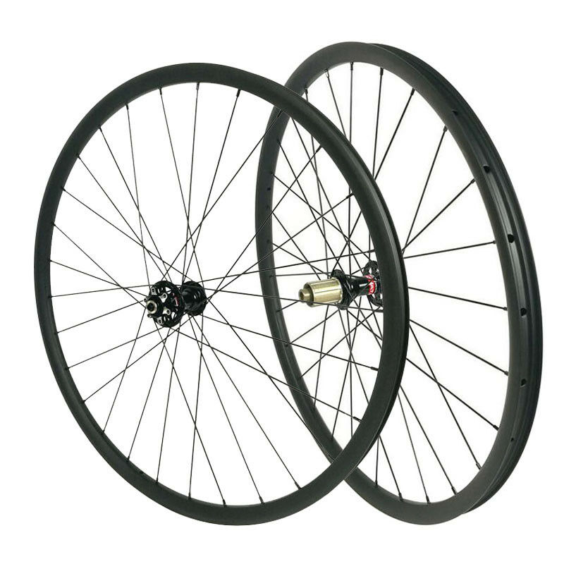 29er MTB carbon XC 22mm clincher wheels 28mm width Tubeless compatible 1380g set