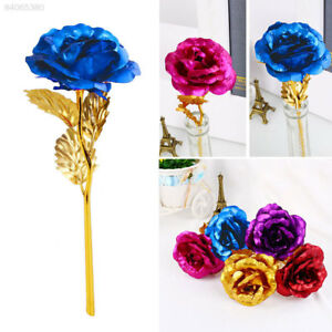 9722 24k Gold Plated Golden Rose Flower Valentine S Day Lovers Gift