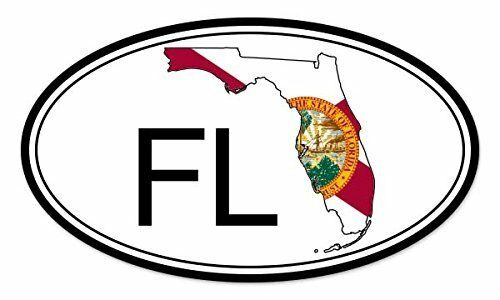 Florida State Flag Oval Car Vinyl Sticker SELECT SIZE