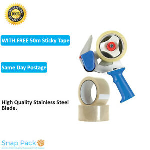 2Pcss Packing Tape Gun Dispenser 48mm Roll Sticky Packaging Dispenser FREE TAPE
