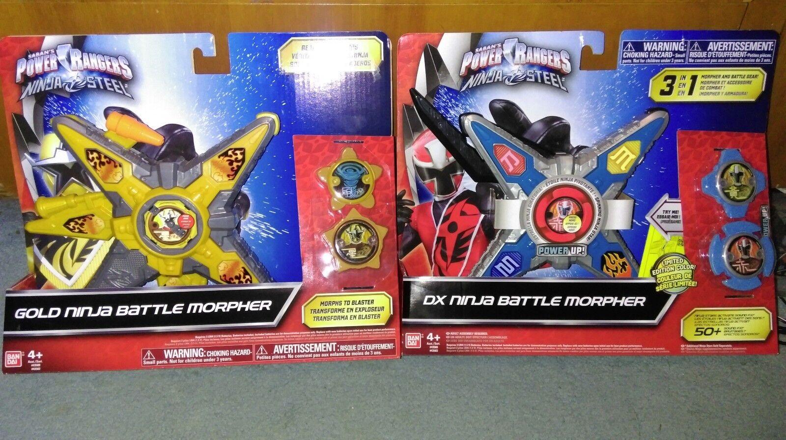 Power Rangers Bandai  Ninja Steel Gold Limited Morpher New