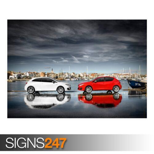 SEAT IBIZA FR AB384 CAR POSTER Photo Picture Poster Print Art A0 A1 A2 A3 A4