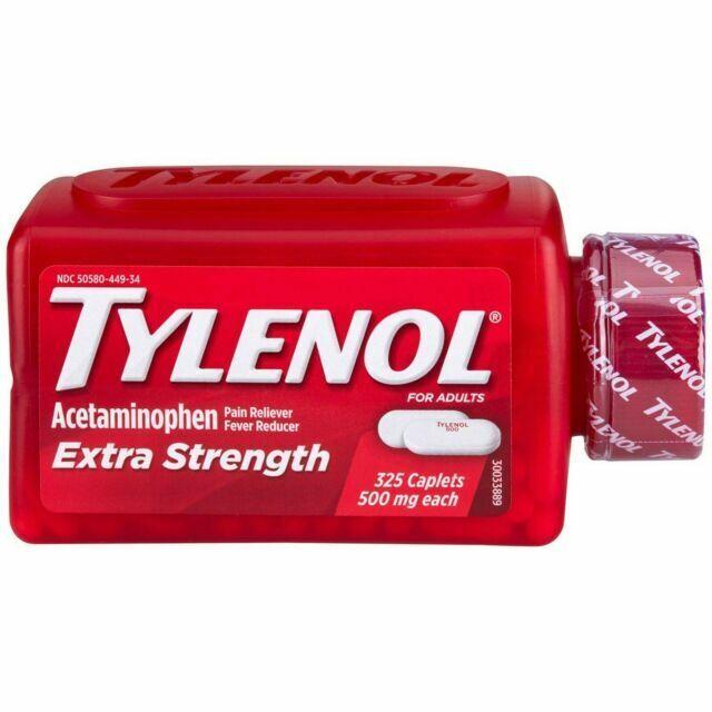 Tylenol Extra Strength Pain Reliever Acetaminophen 500 Mg Ca