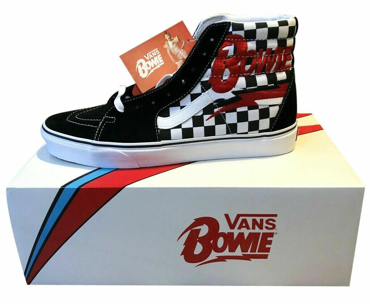 Vans David Bowie Checkerboard Sk8 Hi Homme chaussures Taille 11