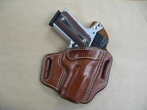Details about Kimber Ultra Carry 1911 OWB Leather 2 Slot Molded Pancake  Belt Holster CCW TAN R