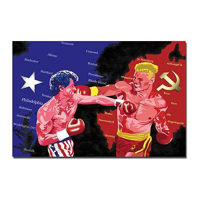 Rocky VS Drago Poster Art Silk Fabric Motivational Poster 13x20 24x36 inch J541