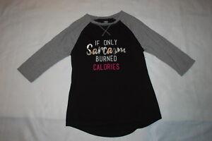 d3165f8b6 Womens Athletic Raglan T-Shirt IF ONLY SARCASM BURNED CALORIES Black ...