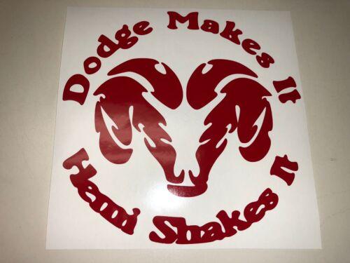 Window Toolbox Sticker #228 Dodge Make it Hemi shakes it Sticker