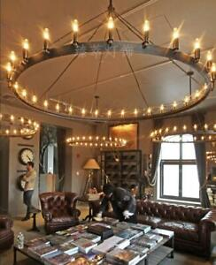 Details About Vintage Chandelier Iron Ceiling Lamp Living Room Light Lobby Country Lighting