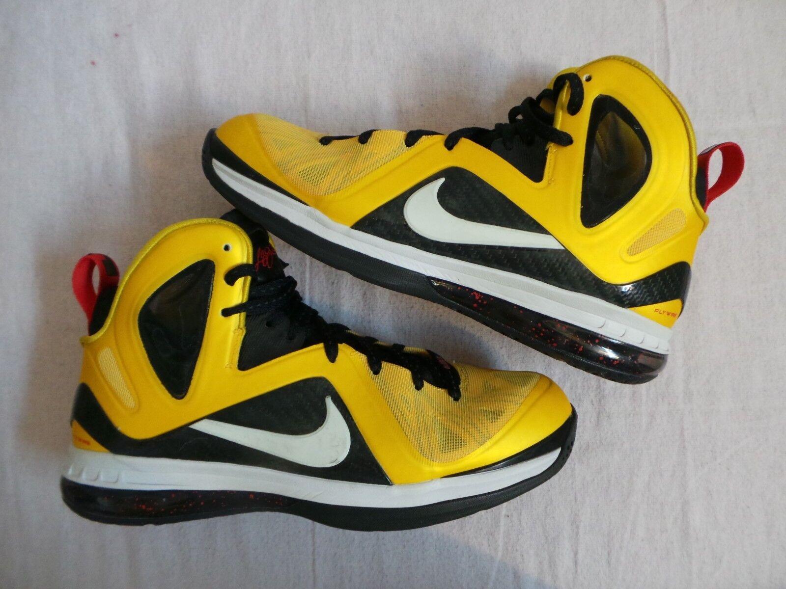 Nike Air Max Zoom LeBron IX 9 Nine ELITE  noir  yelfaible Lakers sz 11 vintage James