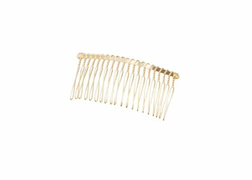 """Gold Metal Twisted Wire Comb for Veils and Headpieces 3/"""" Wide  Four Pieces"""