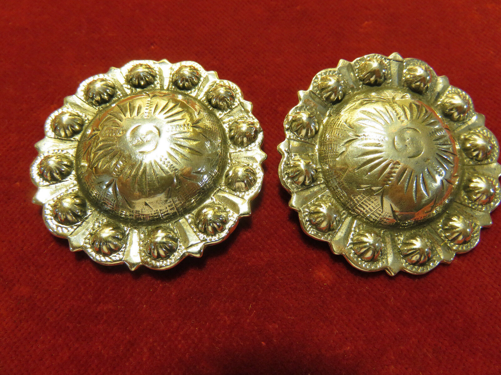Conchos  Pair Radius Point Berry, Sterling 1 3 4