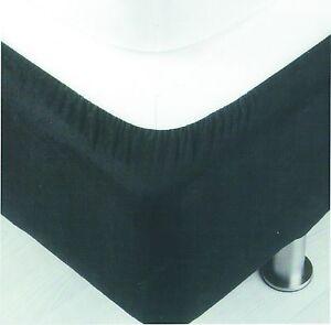 Belledorm divan bed base cover wrap valance black single for Divan valance sheet