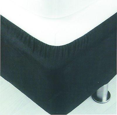 Belledorm Divan Bed Base Cover Wrap Valance Black Single Double King Superking