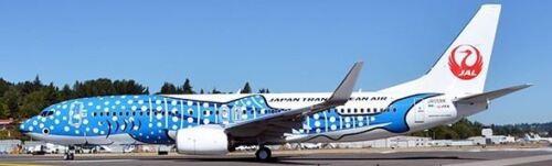 Transocean Japan JAL 737-800W Jinbei JA05RK Whale Shark JC4JTA025 1:400