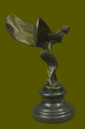 On Sale++ Rolls Royce Spirit of Ecstasy Bronze Sculpture Brown Patina 12 Inches