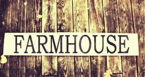 Large FARMHOUSE Vinyl Wall Decal Sticker Sign Fixer Upper Rustic Home Decor
