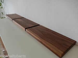3x wandboard nussbaum massiv holz board regal steckboard regalbrett neu auf ma ebay. Black Bedroom Furniture Sets. Home Design Ideas