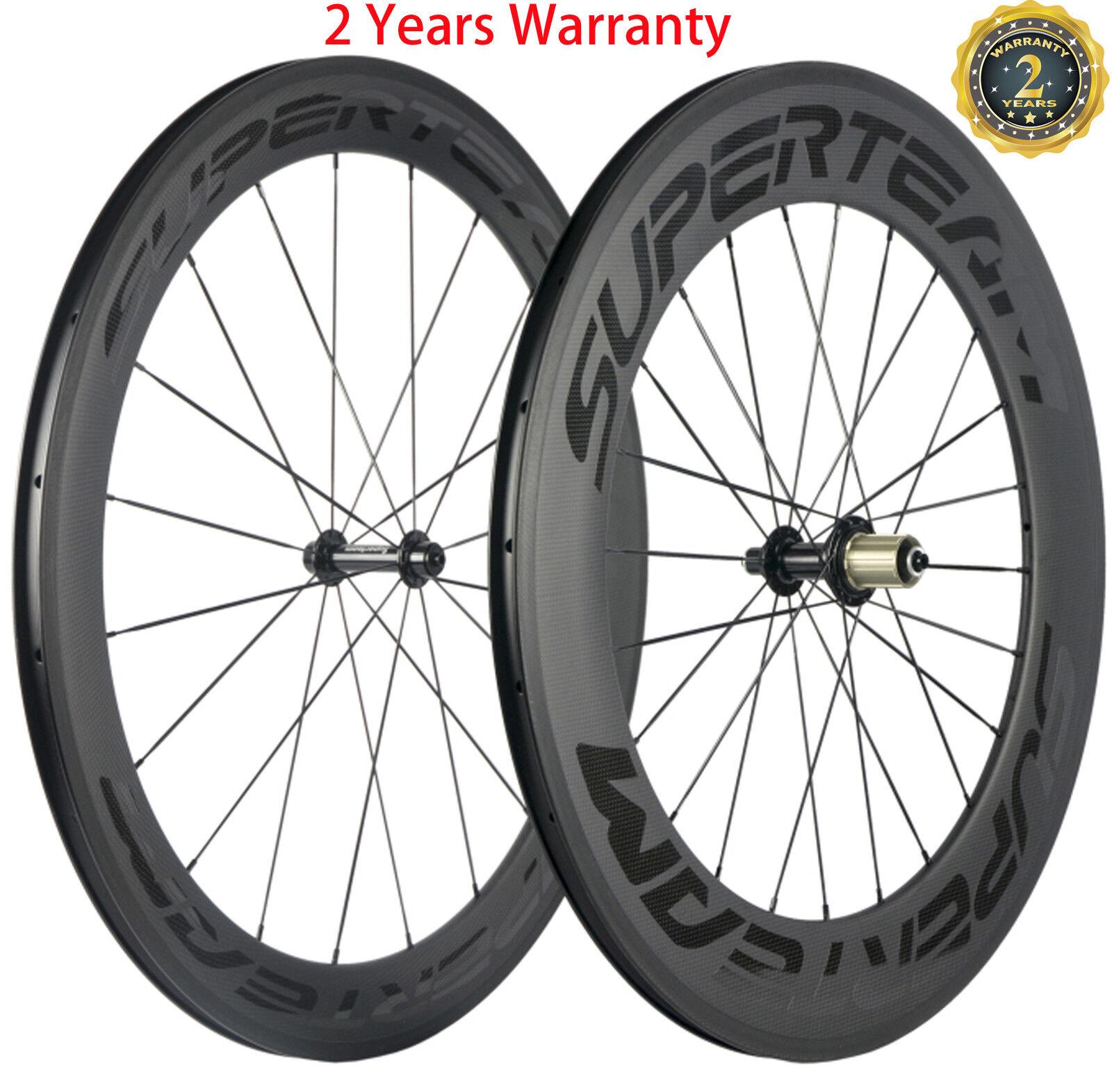 700C Bicycle Wheels Front 60mm Rear 88mm Carbon Wheels Ceramic Bearing Wheelset