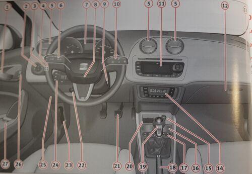 SEAT IBIZA SC HANDBOOK OWNERS MANUAL WALLET 2008-2012 PACK C-716