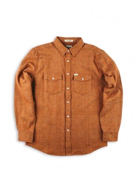 MATIX Quincy Flannel Shirt (M) Caramel