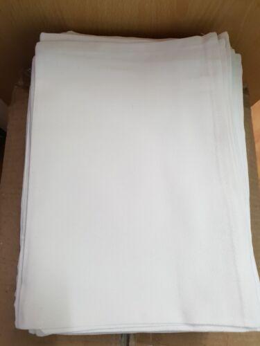 48cm X 70cm 10 X Blanco Liso 100/% algodón toalla de té dobladillo en los 4 lados-Tamaño