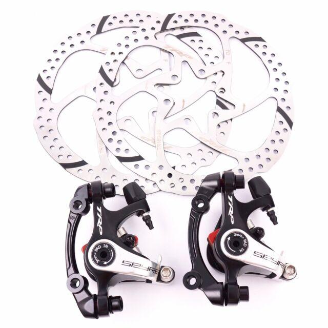 TRP SPYRE Road Bike Alloy Mechancial Disc Brake Caliper Rotor 160mm Rotor F+R
