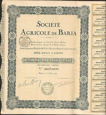 Société COTONNIÈRE de SAÏGON INDOCHINE I