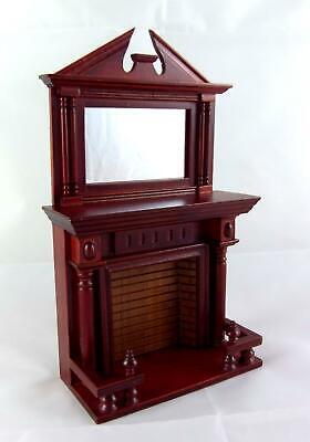 1//12 Casa De Muñecas De Algodón Muebles En Miniatura De Caoba Reclinable