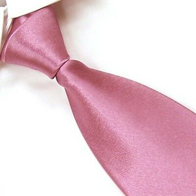 New Handmade Classic Men's Necktie Wedding Party 100% Silk Tie Plain Color Solid