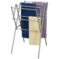 Clothes Drying Rack Folding Hanger Outdoor Home Kitchen Laundry Expandable Metal