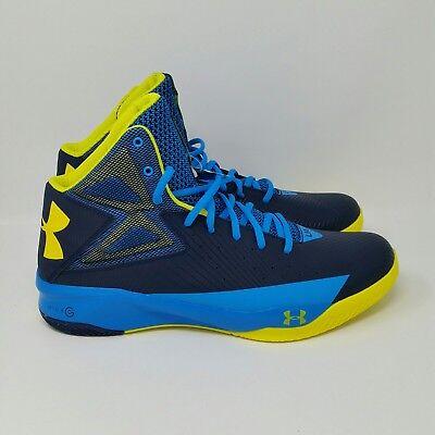 separation shoes bca8f ca7ff *NEW* Under Armour UA Rocket (Men's Size 12) Basketball Sneaker Shoe Blue  Yellow   eBay