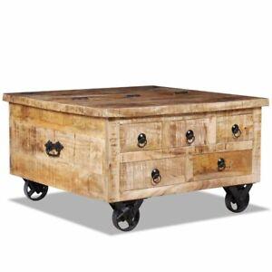 Détails Cm Brut Manguier De Sur D'appoint Vidaxl Salon Table 70x70x40 Basse Bois tsrxhQdC