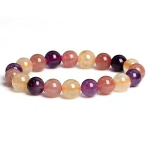 Natural Colorful Auralite 23 Gemstone Round Beads Healing Best Bracelet 7mm AAAA