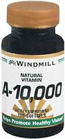 4 Pack Windmill Natural Vitamins A-10,000 Dietary Supplement 100 Softgels Each on sale