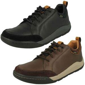 Detalles de Hombre clarks Cuero Gore Tex Impermeable Informal Cordones Zapatos Ashcombe Bay