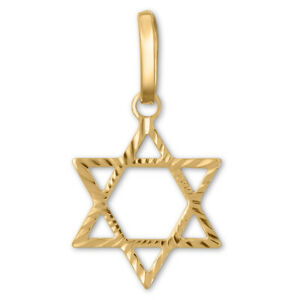 14K-Yellow-Gold-Star-Of-David-Pendant-Jewish-Charm