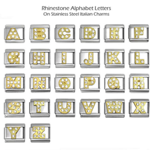 Letter L Gold Plated Initial Italian Charm 9mm Classic Size