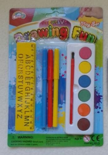 Gift,Favor CREATIVE DRAWING FUN SET,Paint,Pens,Stencil,Art,Craft,Boys,Girls