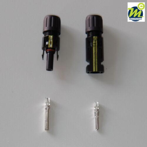 Stecker 10 Paar Sets Silverline Solarstecker MC 4 komp.für 2,5-6,0 mm² Buchse